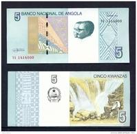 ANGOLA  -  2012 5 Kwanzas  UNC Banknote - Angola