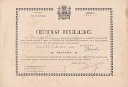 CERTIFICAT   D' EXCELLENCE ,,,,, 1915-  16,,,,,, - Diplômes & Bulletins Scolaires