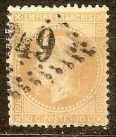 NAPOLEON N°28 B 10c Bistre Oblitéré Losange GC ?49 - 1863-1870 Napoléon III Lauré