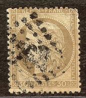 CERES N°56a 30c Brun Foncé Oblitéré Losange GC - 1871-1875 Cérès
