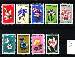 ANDORRE Lot Fleurs  N**  C308 - Andorra Francese