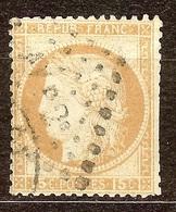 CERES N°55 15c Bistre Oblitéré Losange AMBULANT AV P 2° - 1871-1875 Cérès