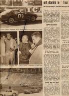 DOCUMENT, TOUR AUTO, GENDEBIEN, STOREZ, TRINTIGNANT, BIANCHI, FERRARI, LAUGA, HEBERT, COUPURE REVUE (1957) - Racing