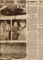 DOCUMENT, TOUR AUTO, GENDEBIEN, STOREZ, TRINTIGNANT, BIANCHI, FERRARI, LAUGA, HEBERT, COUPURE REVUE (1957) - Voitures (Courses)