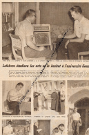 DOCUMENT, BASKET, JEAN-CLAUDE LEFEBVRE, ETUDIANT AUX ETATS-UNIS, SPOKANE, GONZAGUA, JESUITES, COUPURE REVUE (1957) - Sport