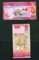 SRI LANKA  -  2015  20 Rupees  UNC  Banknote - Sri Lanka