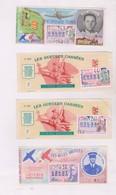 4 BILLETS DE LOTERIE ANNEE 1968! - Billets De Loterie