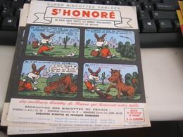 BUVARD PUBBLICITARIA BISCOTTES ST HONORE' - Biscottes