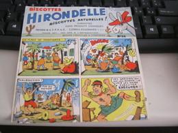 BUVARD PUBBLICITARIA BISCOTTES HIRONDELLE - Biscottes