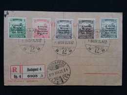 UNGHERIA 1919 - Commemorazione Entrata Armata Nazionale In Budapest Nn. 286/90 + Spese Postali - Usati