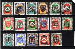 ALGERIE Lot Armoiries Obli C352 - Algérie (1924-1962)