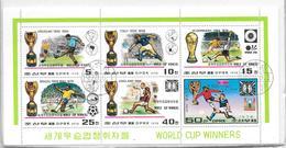 COREE DU NORD WORLD CUP WINNERS BLOC YEAR 1978 OBLITERE - Coupe Du Monde