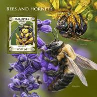 Z08 MLD18602b Maldives 2018 Bees And Hornets MNH ** Postfrisch - Maldives (1965-...)