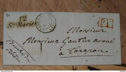 Lettre Des SAINTES MARIES DE LA MER, Port Payé,1842  ........... DIV-298 - Marcophilie (Lettres)