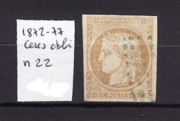 CERES 1872-77 N 22 Obli AC11 - Ceres