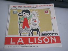 BUVARD PUBBLICITARIA  BISCOTTES LA LISON - Biscottes