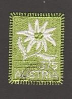 """Österreich 2005:  """"Edelweiß Gestickt"""" Gestempelt  (s.Foto) - 1945-.... 2nd Republic"""