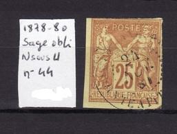 SAGE 1878-80 N Sous U N 44 Obli AC20 - Sage