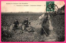 Scènes De Douane à La Frontière - Douaniers Et Fraudeur - Disposition D'attaque - Chien - Edit. B.F. - 1909 - Polizei - Gendarmerie