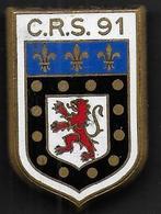 C.R.S. 91  POITIERS - Insigne émaillé Drago Romainville - Polizia