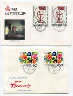 RC 9533 EMISSIONS COMMUNES 1988 FRANCE - DANEMARK + FRANCE SUISSE 1er JOUR FDC TB - Joint Issues