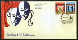 India 2018 Goan Tiatr Musical Theatre Dramas Culture Mask 2v FDC - Cinema