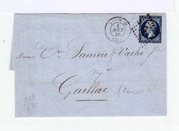 Sur Lettre Type Napoléon III Empire Français 30 C. (553) - Marcophilie (Lettres)