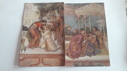 A-1252, 2 Postcard Lot, Illustrations Of Hindu Myths By Evelyn Paul - Religions & Beliefs