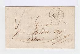 Lettre Avec Cachet à Date De Crest Du 12 Octobre 1844. (554) - Marcophilie (Lettres)