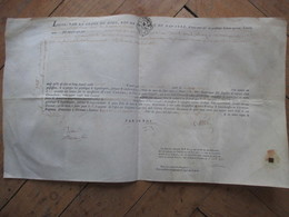 PARCHEMIN  -  CLERMONT-FERRAND  -  CONTRAT D'HERITAGE  ?  PIERRE MOLLE ECUYER .... TROIS CENT LIVRES -  47X 27 CM. - Autres Collections