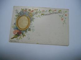 THEME DIVERS CARTE ANCIENNE COULEUR  EDIT G GOSSENS PARIS CHAMPIGNY  N°1  CORRESPONDANCE CARTE AVEC MEDAILLON OU L'ON PE - Cartes Postales