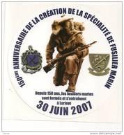 196 - AUTOCOLLANT - MARINE NATIONALE - 150èm ANN. DES FUSILLIERS MARINS - Stickers