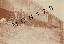 SOUVENIR DE CONSTANTINOPLE:ISTANBUL 1910-CHEMIN DE FER OTTOMAN ALLANT DE CONSTANTINOPLE A SAN STEPHANO-PHOTO 11X8 Cms - Trains