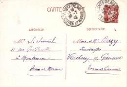 Entier Postal - Petain 80c Oblit Cad 1942 Montereau - 1941-42 Pétain