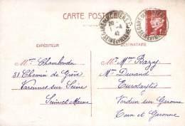 Entier Postal - Petain 1F20 Oblit Cad 1942 Gare De Montereau - 1941-42 Pétain