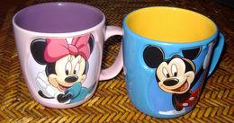 Disney Collector Exclusivité Disneyland Resort Paris - Mickey & Minnie - Duo Grands Mugs Tasses  - Superbe Avec Relief - Cups