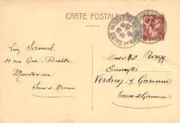 Entier Postal - Iris 80c Oblit Cad Montereau 1941 - 1939-44 Iris