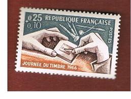 FRANCIA  (FRANCE) - SG 1709 -  1966 STAMP DAY   - MINT ** - Ungebraucht