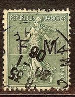 TIMBRE FRANCHISE MILITAIRE N°3 SEMEUSE 15c Vert-Olive Oblitéré CàD - Franchise Militaire (timbres)