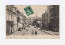 Amiens. La Rue Porte Paris.Commerces. Charrettes. (3010) - Amiens