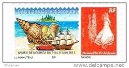 Nouvelle Caledonie Timbre Personnalise Public Salon Collectionneur Noumea Juin 2013 Coquillage Navire Voiture Parfum - Nuova Caledonia