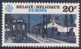 "Belgie Belgique Belgium 1983 Mi 2145  YT 2092 ** ""Night Trains"" / Nachtzüge, Painting By Paul Delvaux (1897-1994) - Treinen"