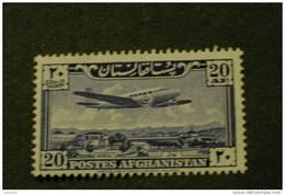 Afghanistan C10 MNH Plane Over Palace Grounds Kabul 1951 A04s - Afghanistan