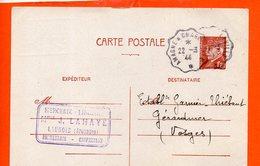 08 LAUNOIS : Melle J. Lahaye - Mercerie (entiers Postaux) - Frankreich