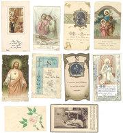 Lot 10 Images Pieuses / Religieuses ( Familles Blanchard, Chauvet, Carpentras ) - Images Religieuses