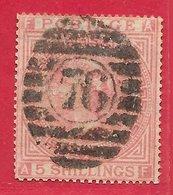 Grande-Bretagne N°40 5s Rose (filigrane Croix) 1867-82 O - Oblitérés
