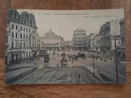 Liège - Place Saint Lambert Et Rue De Bex - Grand Hotel - Carte Molle - DA - Luik