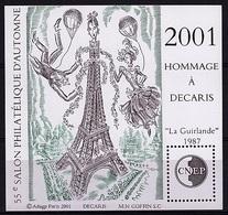 CNEP 34 - BLOC Salon Philatélique D'automne 2001 Hommage à Decaris - CNEP