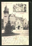AK Kronberg, Prinzessin Friedrich Carl Von Hessen Mit Kindern, Schloss - Royal Families