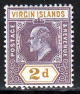 Iles Vierges 1904 Yvert 30 * TB Charniere(s) - Iles Vièrges Britanniques